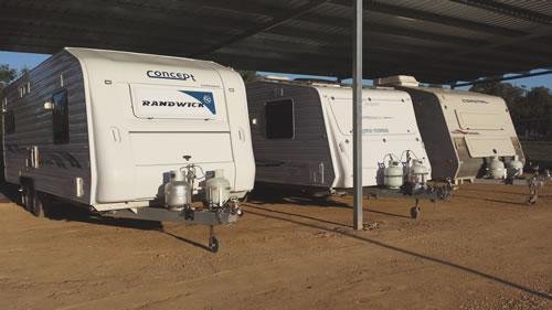 Caravan storage at Fraser Caravans